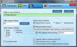 Программа для записи видео с экрана Fraps