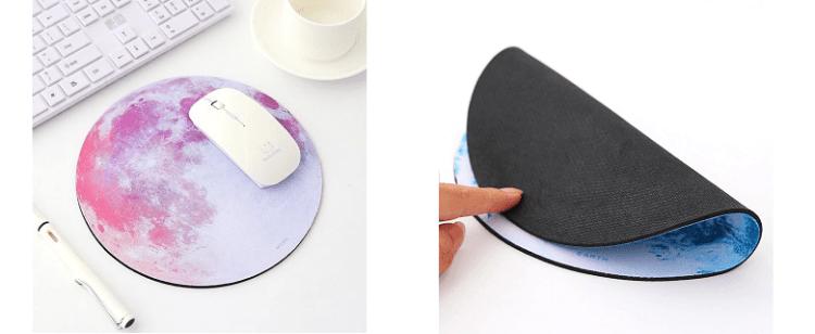Alphun Moon Round Mouse Pad