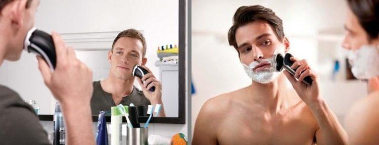 Тип бритья — сухое или влажное
