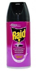 Аэрозоль Raid от ползающих и летающих насекомых с запахом лаванды
