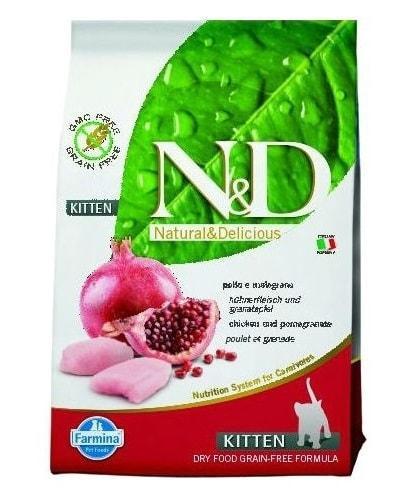 Farmina N&D Grain-Free Feline Chicken & Pomegranate Kitten (10 кг) - обзор, отзывы, сравнение, цена