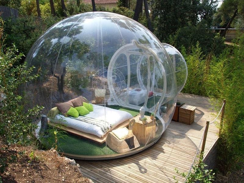 Crystal Bubble Tent обзор, необычный
