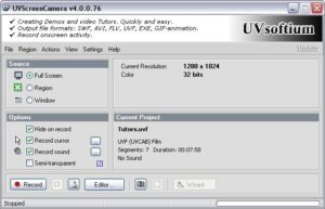UVScreenCamera программа