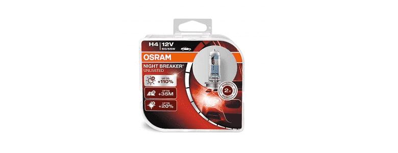 Osram H4 Night Breaker Unlimited +110% - обзор, рейтинг, цена, отзывы, фото