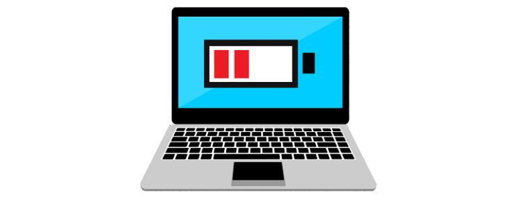 Время автономной работы батареи ноутбука