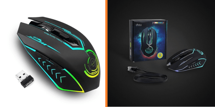 UHURU Rechargeable 2.4Ghz Wireless Gaming Mouse