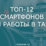 10 лучших смартфонов для такси