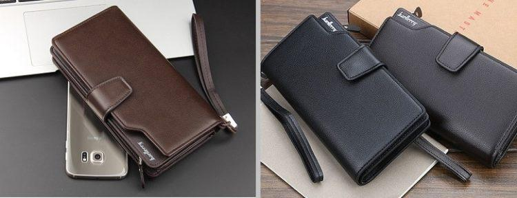 Кожаный бумажник с гравировкой имени