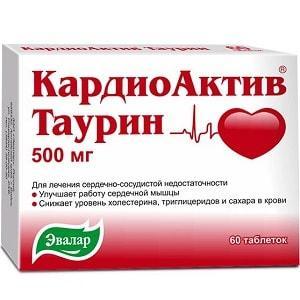КардиоАктив Таурин Эвалар