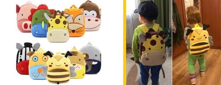 Плюшевые детские рюкзаки