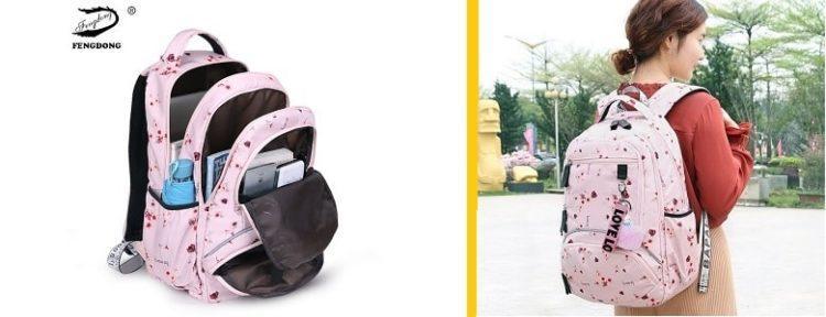 Розовый рюкзак для девочек
