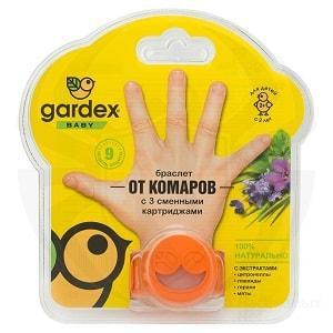 Браслет Gardex Baby от комаров с 3 сменными картриджами