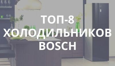 Лучшие холодильники фирмы Бош